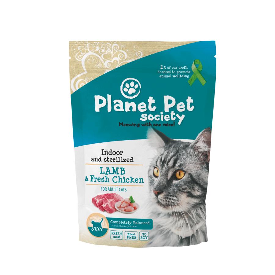 Planet Pet Kattenvoeding Indoor & Sterilised Lamb