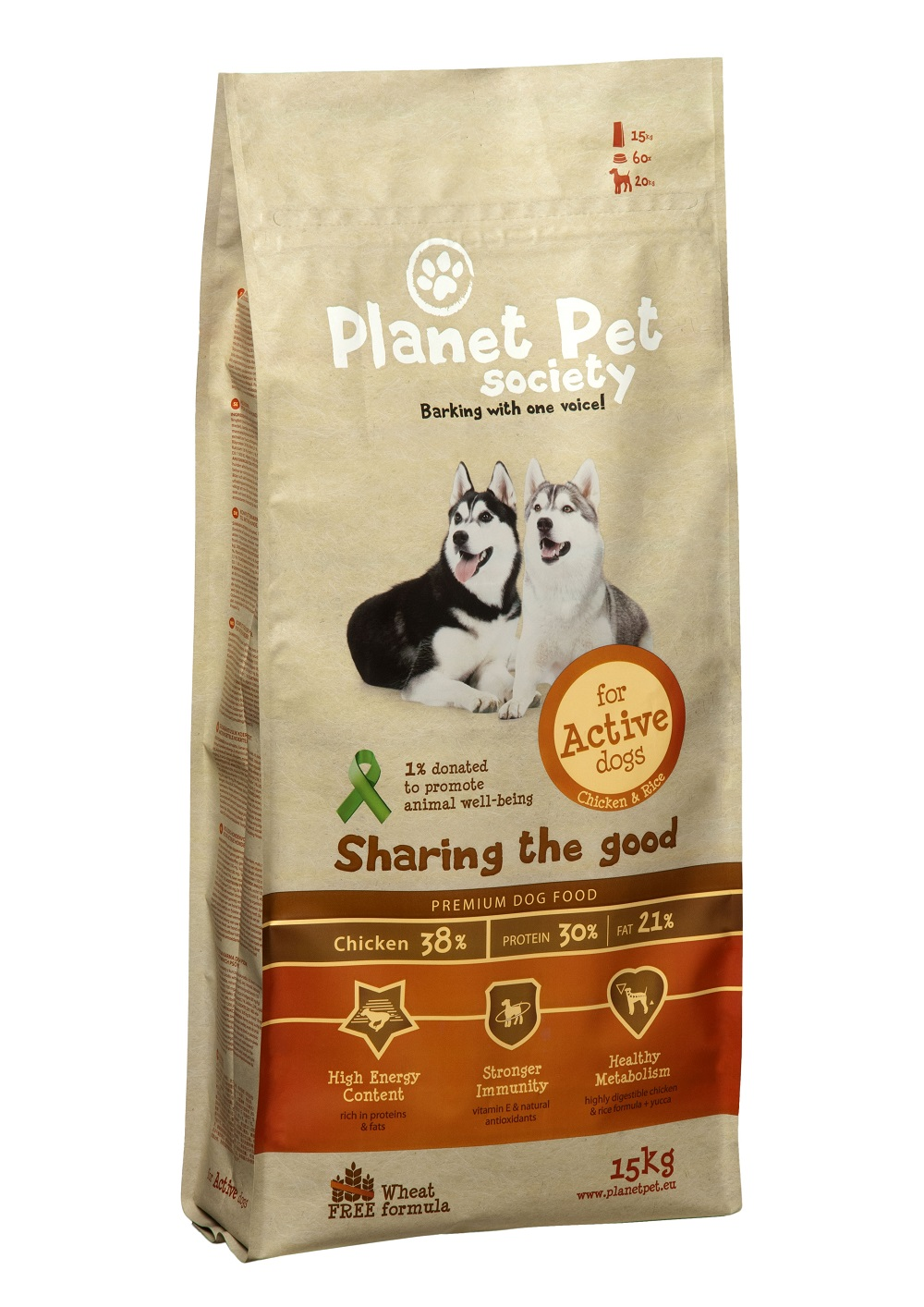 Planet Pet Adult Active Hondenvoeding