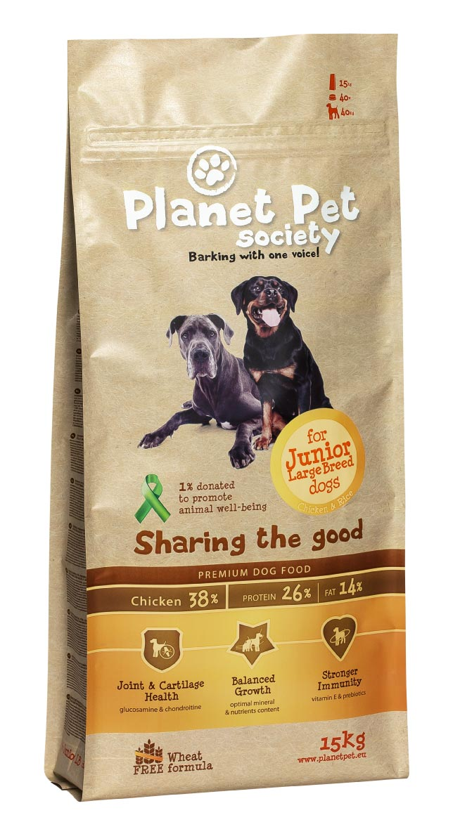 Planet Pet Junior Large Breed Hondenvoeding